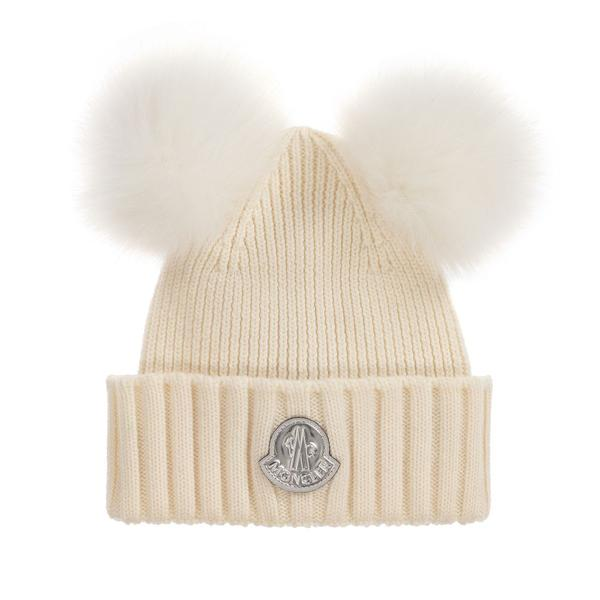 Girls White Wool Hat