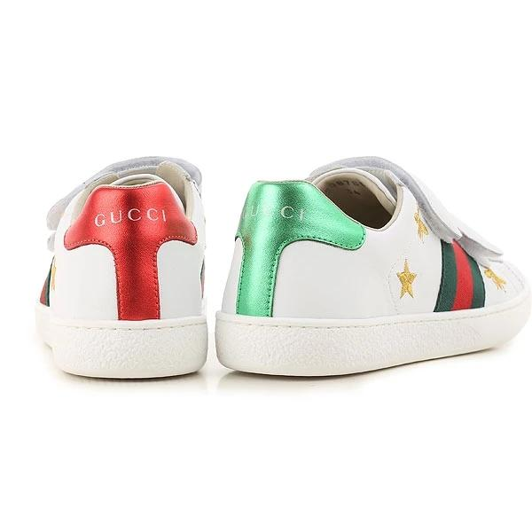 Boys & Girls White Embroidery Leather Shoes