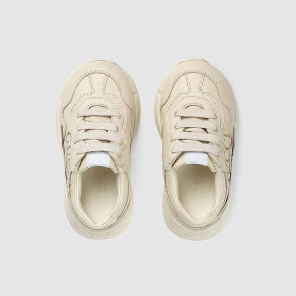Baby Boys & Girls Ivory Logo Leather Shoes