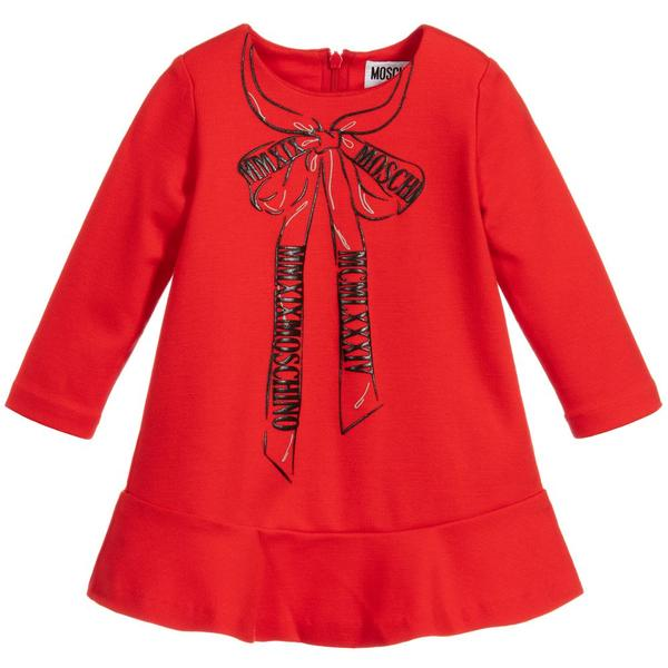 Baby Girls Red Jersey Dress