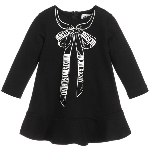 Baby Girls Black Jersey Dress