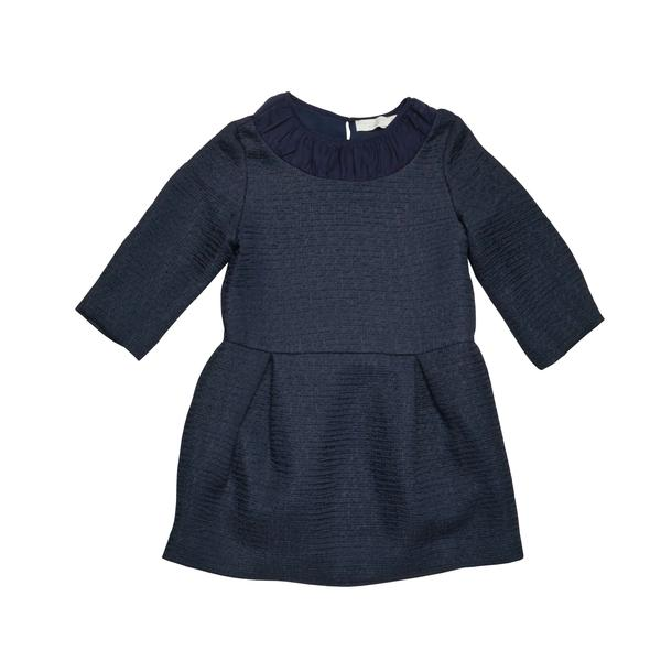 Girls Dark Grey Cotton Crew Collar 'Anaise' Dress - CÉMAROSE | Children's Fashion Store