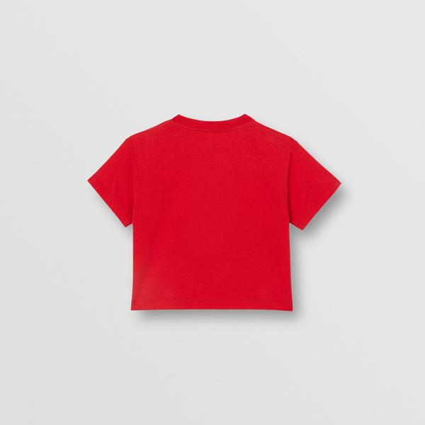 Baby Girls Bright Red Logo Cotton T-shirt