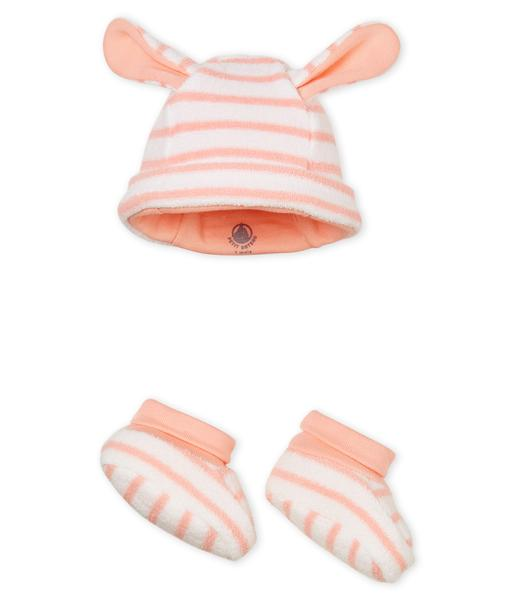 Baby Boys Pink Hat & Shoes Sets