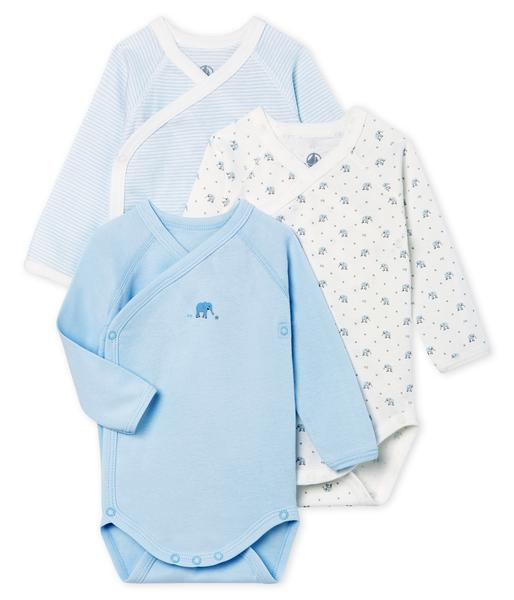 Baby Boys Rice & Light Blue Cotton Sets