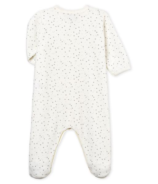 Boys & Girls White Cotton Babysuits