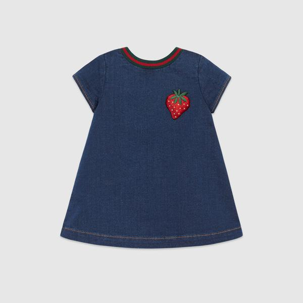Baby Girls Blue Cotton Dress