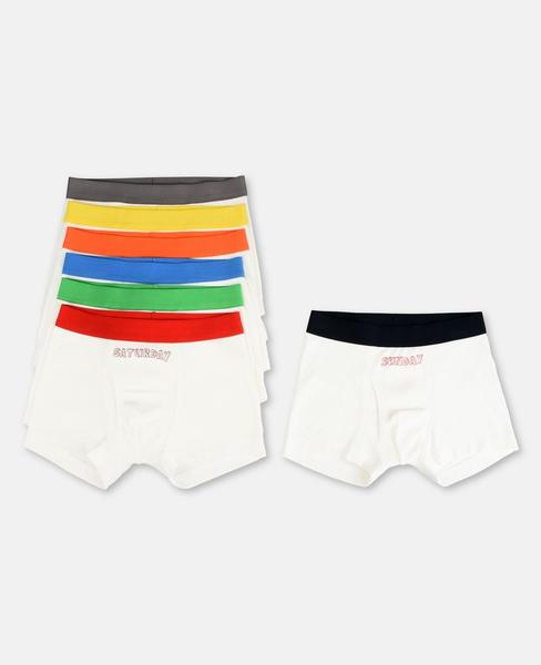 Boys White Anticipato Prim Underwear 7 Pack Gift Set
