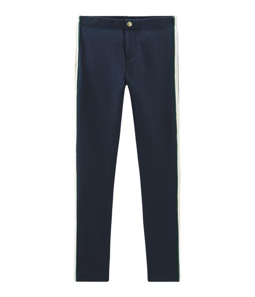 Girls Blue Cotton Trousers