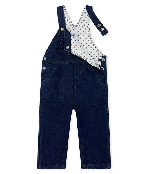 Baby Boys Blue Cotton Bib Trousers