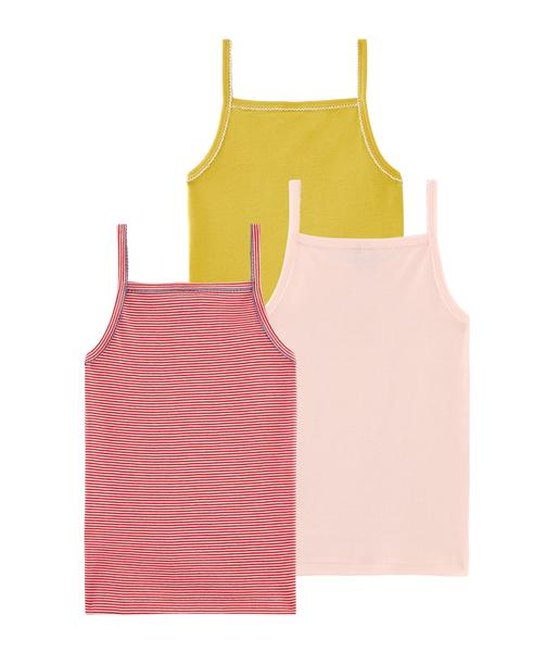 Girls Multicolor Cotton Vest Sets