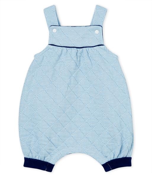 Baby Boys Light Blue Cotton Rompers