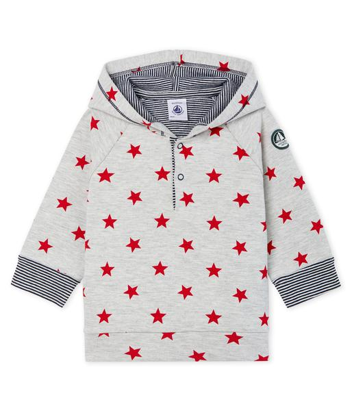 Baby Boys Grey Star Cotton Sweatshirt