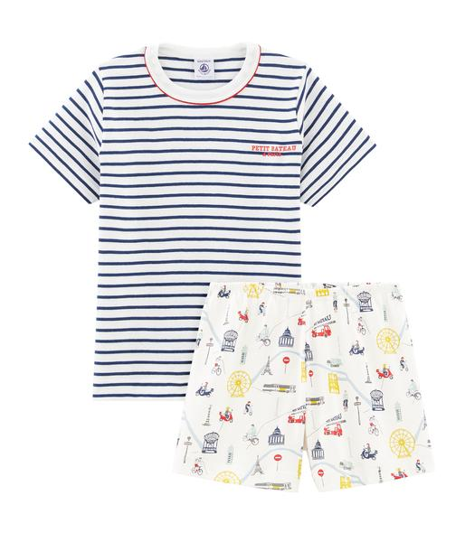 Boys Multicolor Striped Cotton Set