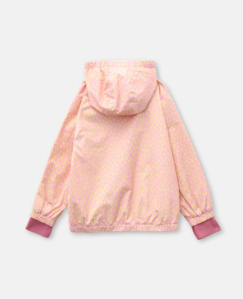 Girls Pink Painted Dots Jacket