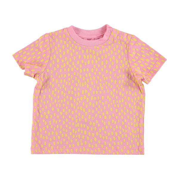 Baby Girls Pink Painted Dots T-shirt