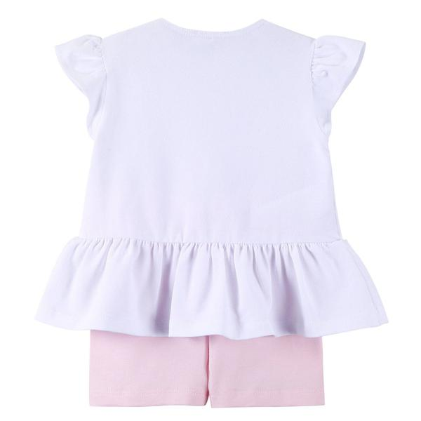 Baby Girls White Dress&Pink Short Two Piece Set - CÉMAROSE | Children's Fashion Store - 2