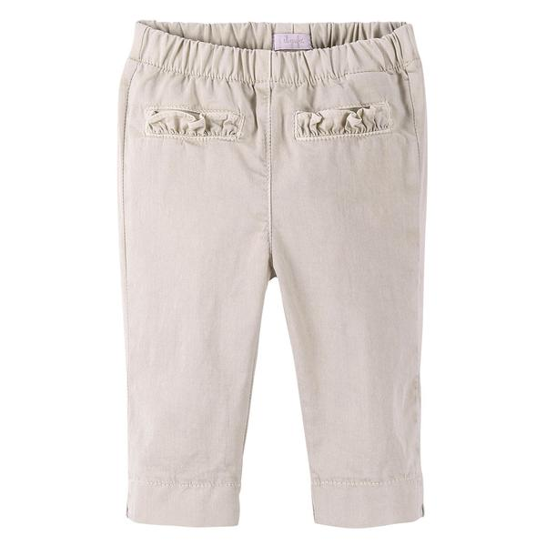 Baby Girls Beige Trousers With Fold Pockets - CÉMAROSE | Children's Fashion Store - 1