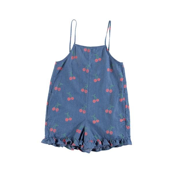 Girls Blue Cherry Rompers