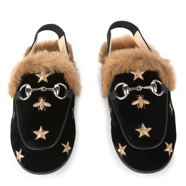 Girls Black Star Shoes