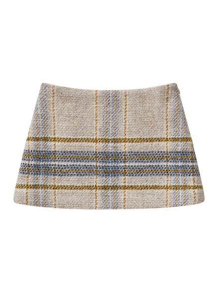 Girls Beige Wool Skirt