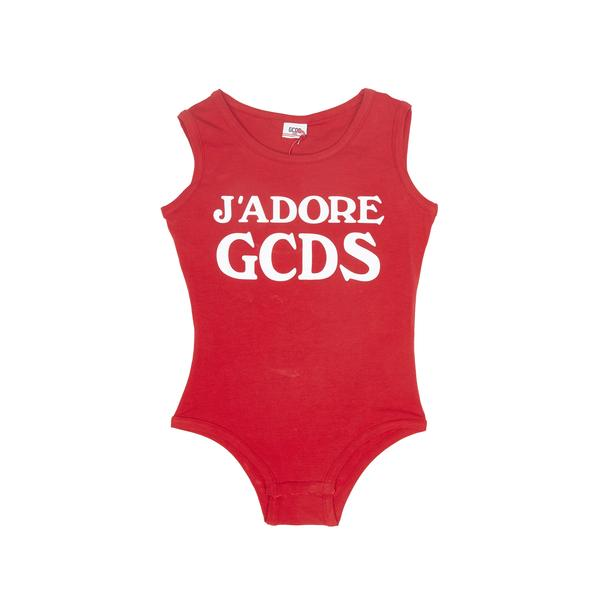 Girls Red Jersey Cotton Babysuits
