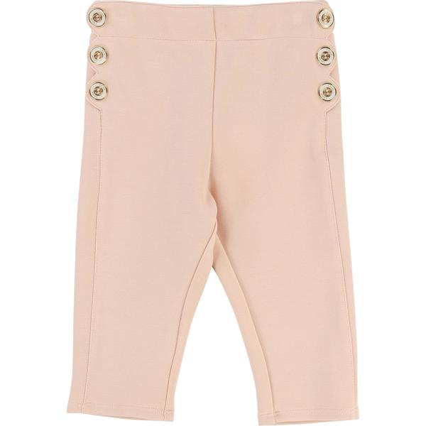 Baby Girls Light Pink Cotton Pants