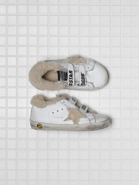 Baby Girls White Star Leather Shoes