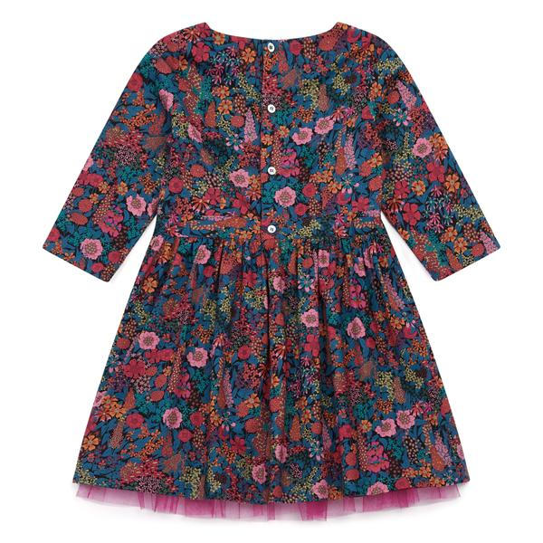 Girls Multicolor Waist Cotton Dress
