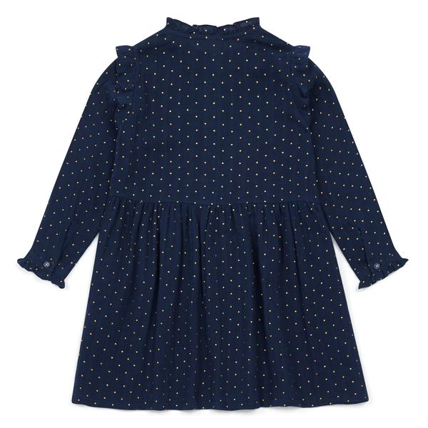Girls Blue Printing Dots Cotton Dress