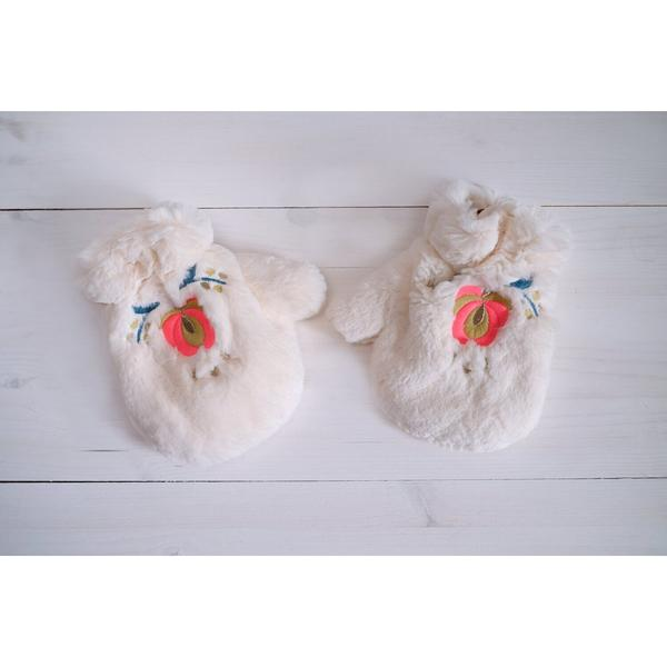 Baby Girls Cream Mittens