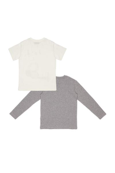 Boys & Girls White & Grey Cotton Set
