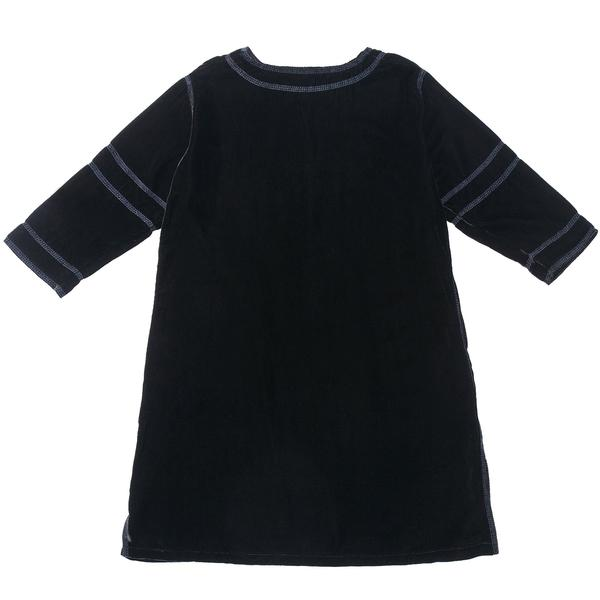 Girls Black Woven Dress