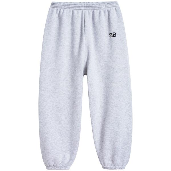 Girls & Boys Grey Chine Cotton Trousers