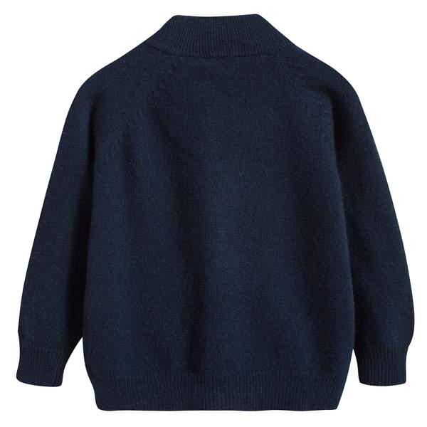 Boys Navy Blue Wool Cardigan