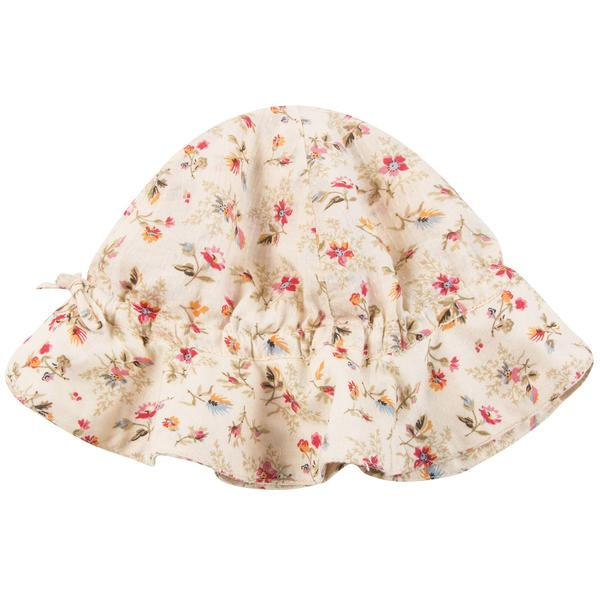 Baby Girls Pink Cotton Woven Hat