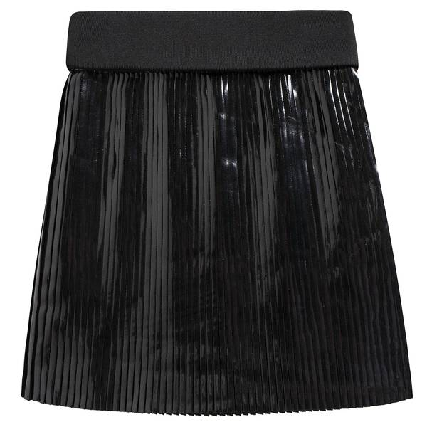 Girls Black Pleated Skirt