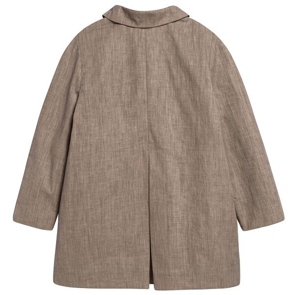 Boys & Girls Sand Linen Woven Coat