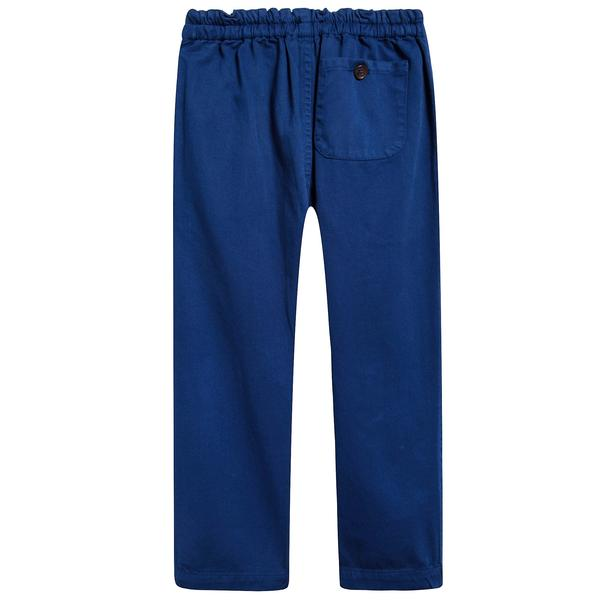 Boys & Girls Electric Blue Cotton Woven Trousers