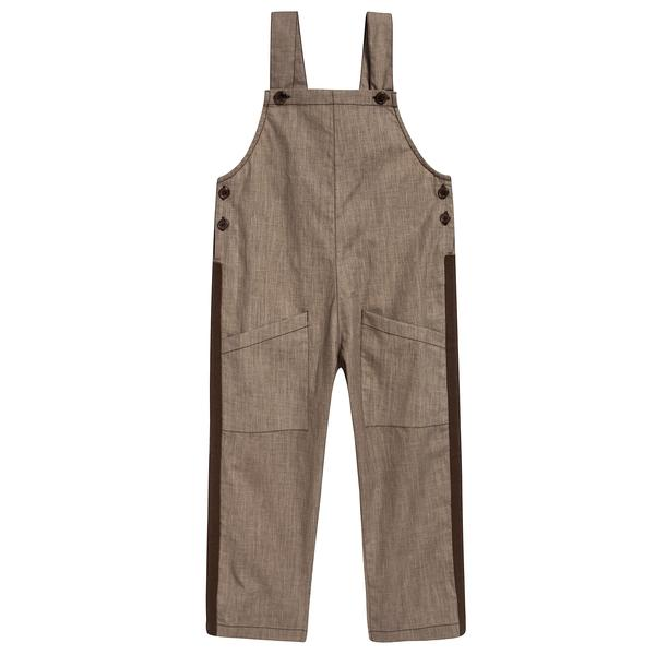 Boys & Girls Sand Woven Dungaree