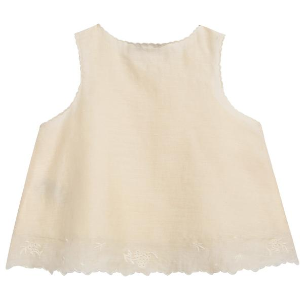 Baby Girls Pale Yellow Cotton Woven Top