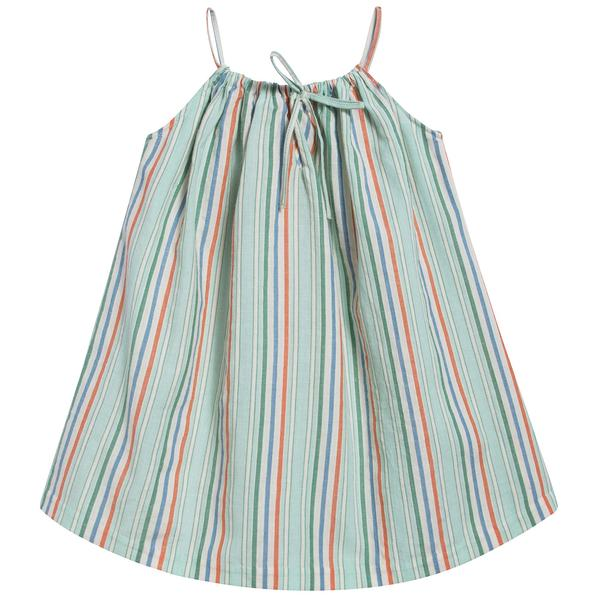 Baby Girls Multi Stripe Cotton Woven Dress