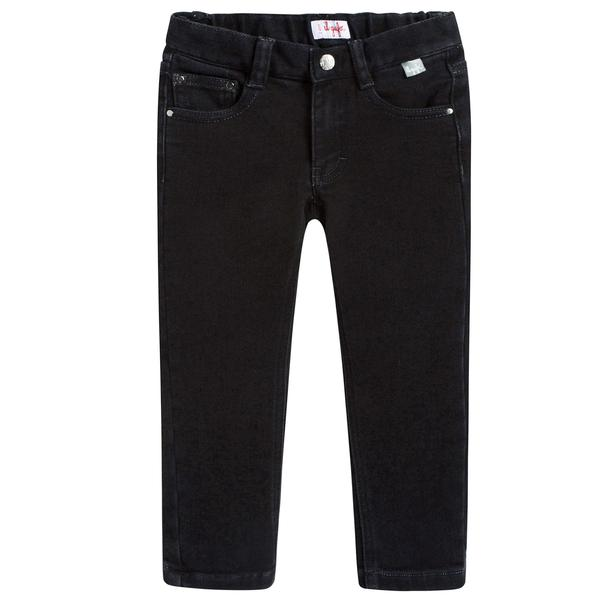 Boys Black Cotton Jeans