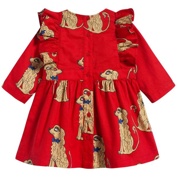 Girls Red Organic Cotton Dress