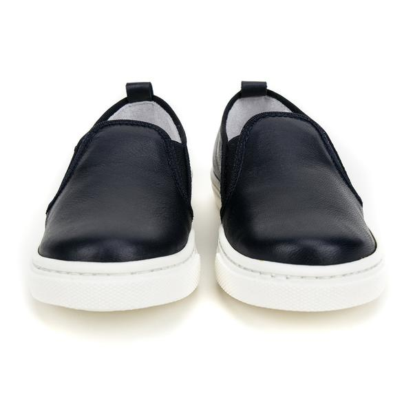 Girls Navy Blue Lather Shoes