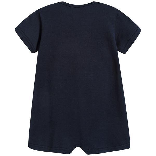 Baby Boys Very Dark Blue Cotton Babysuit