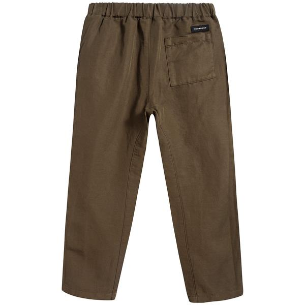 Boys Olive Cotton Trousers