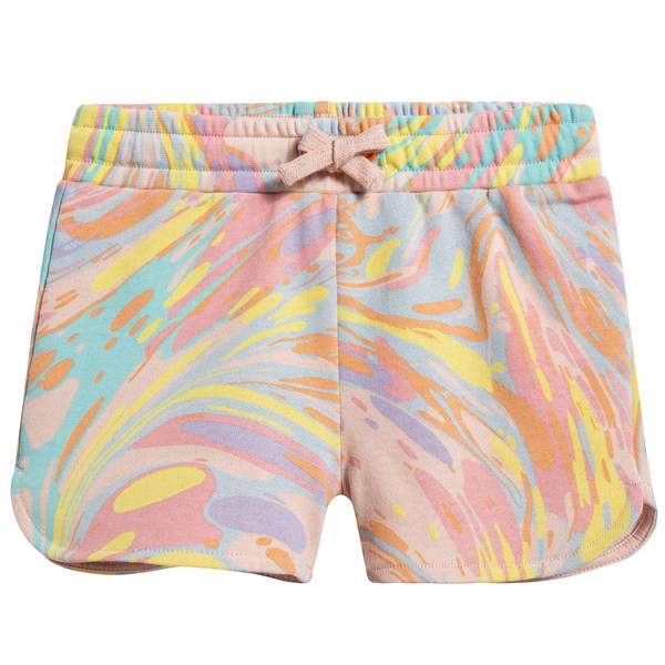 Girls Marble Printed Anticipato Prim Shorts