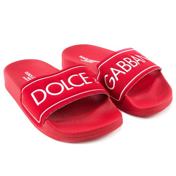 Girls Red Logo Sandals