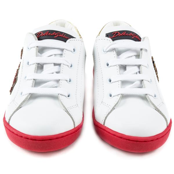 Girls White Leather